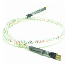 Hifi 5 ядер Nordost Valhalla топ-номинальный посеребренный+ щит USB кабель Высокое качество тип A к Тип B Hifi кабель для передачи данных для ЦАП