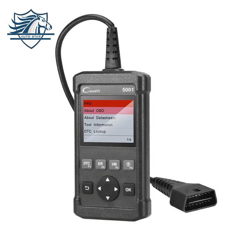 Launch CReader CR5001 Diagnostic Tool Full Functions OBD2 Scanner with O2 Sensor Test and On-board Monitor Component diagnosis
