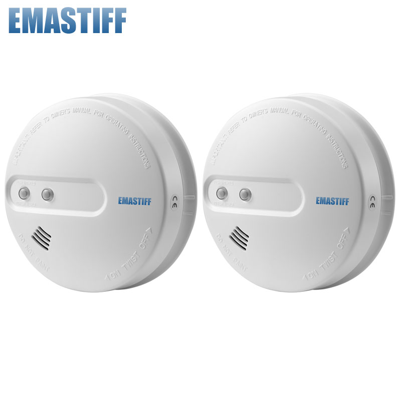 free shipping 2 pieces lot wireless smoke detector sensor for wireless gsm alarm system fire. Black Bedroom Furniture Sets. Home Design Ideas