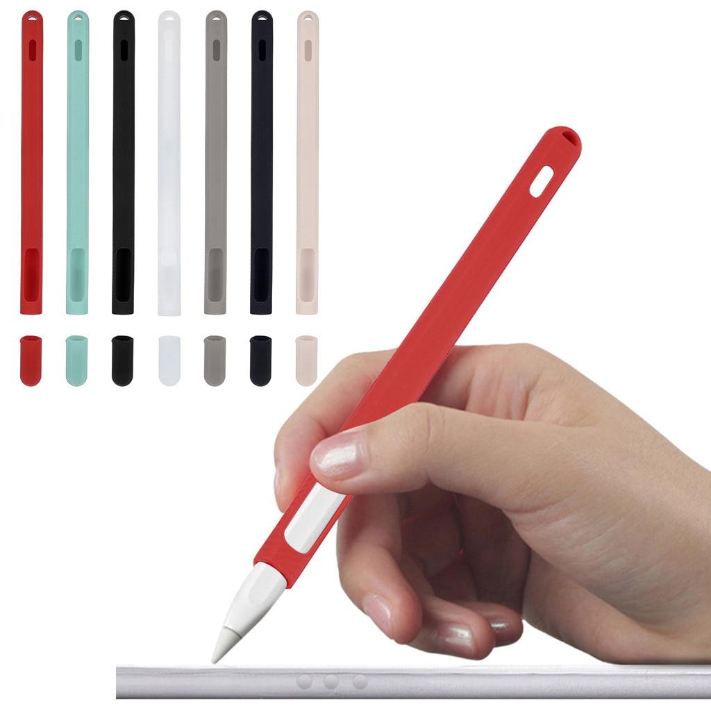 AnpassungsfäHig Silikon Fall Ladestation Mit Cap Keeper Halter Für Ipad Pro Apple Bleistift 2 12,28 Blut NäHren Und Geist Einstellen