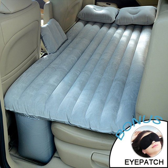 Big Ant Car Air Mattress Universal Inflatable Air Bed Back Seat Travel  Multi-functional Extended Air Couch Two Pillows (Gray) 19f25e31678d