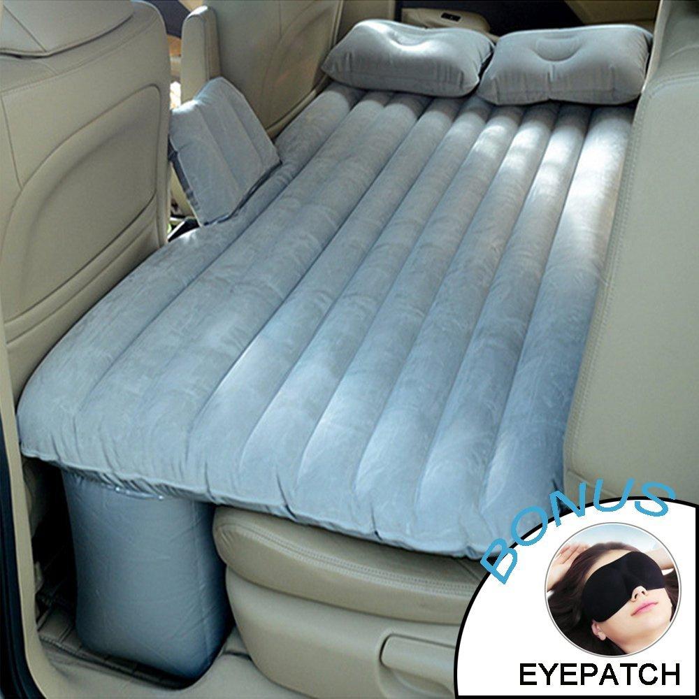 Große Ant Auto-luftmatratze Universal Aufblasbare Luftbett Rücksitz Reise multifunktionale Erweiterte Air Couch Zwei Kissen (grau)