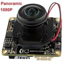 Free shipping 2MP 1/2.8″SONY IMX222 CCTV Indoor security 1080P onvif P2P H.264 wide angle fisheye mini IP camera module board