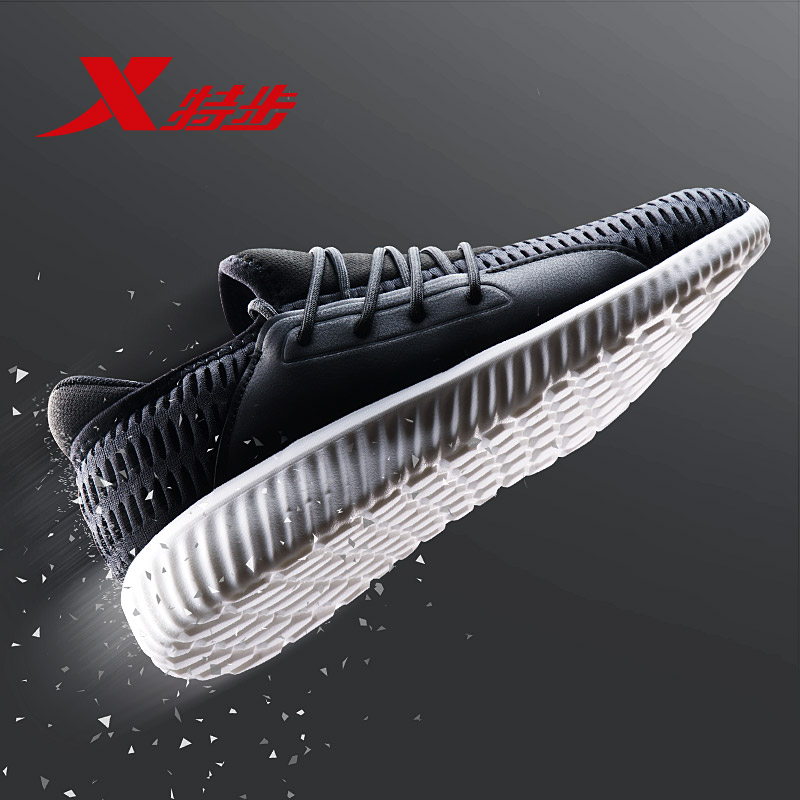 982319119187 XTEP 2018 Men's running Shoes Sports walking athletic Shoes blue comfortabale running men shoe