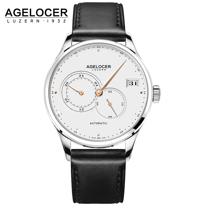 AGELOCER 2017 Business Clock Mens Watches Top Brand Luxury Shockproof Waterproof Belt Watch Men Mechanical Automatic Wristwatch neck cervical traction device inflatable collar household equipment health care massage device nursing care big sale