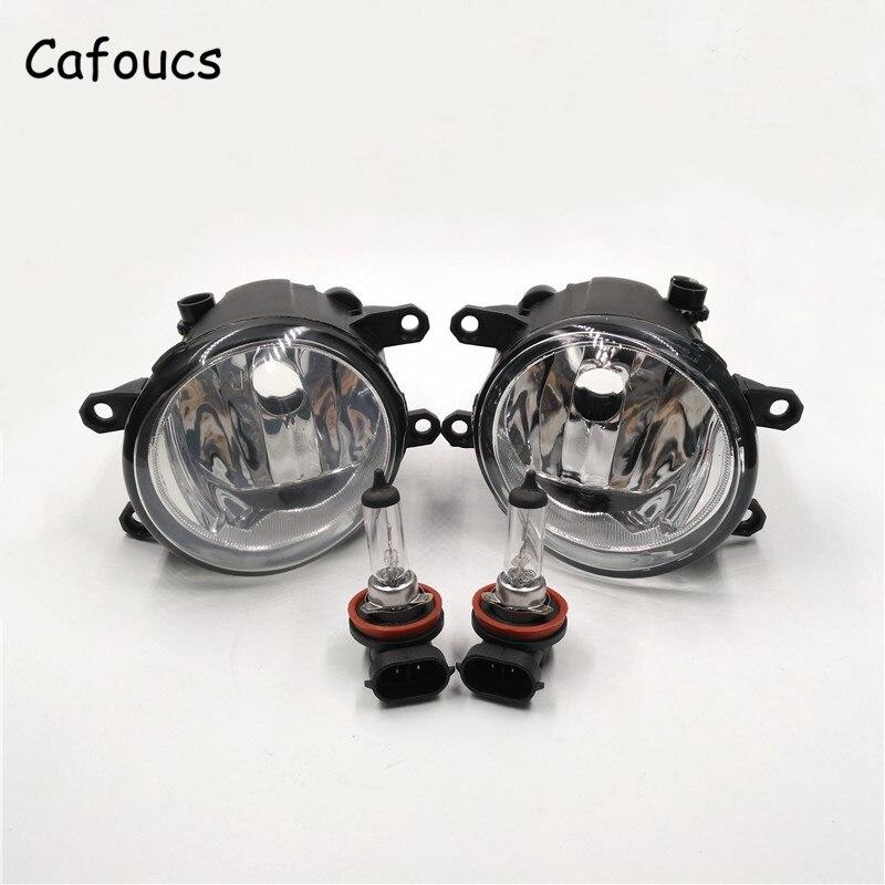 Cafoucs For Toyota Land Cruiser Prado FJ150 Car Front Bumper Fog Lamp Driving Lights With Bulbs