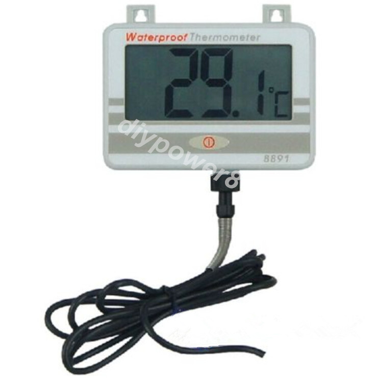 Waterproof Thermometer w/Long Probe AZ8891 Boiler Water Temperature Meter Tester AZ-8891 Brand New And Original water thermometer water boiler display instrument water boiler thermometer 20 110 water heater meter