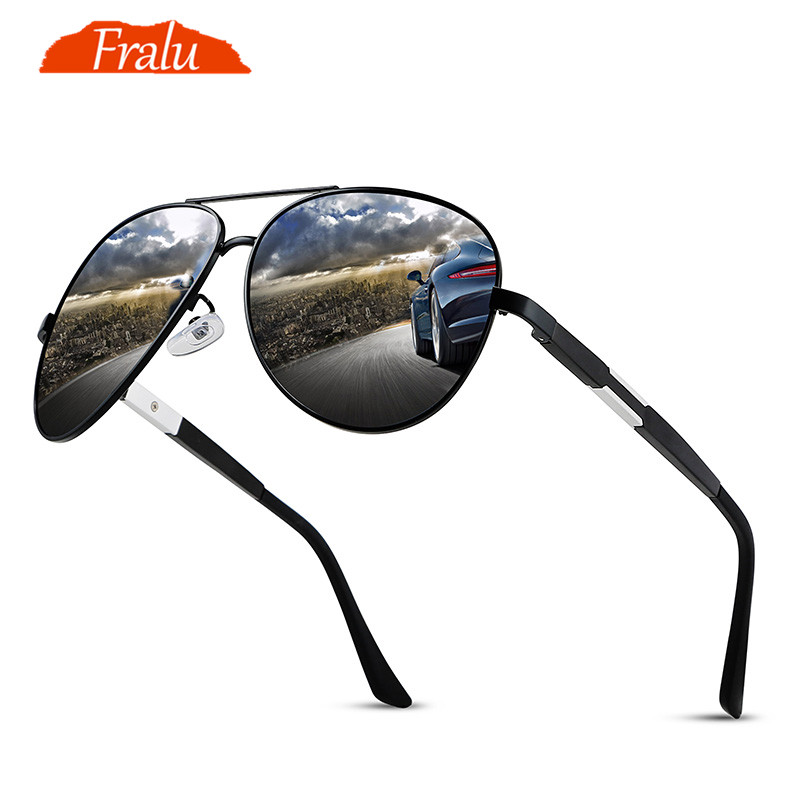 31d0602e3de6 FRALU Mens Polarized Night Driving Sunglasses Men Brand Designer Yellow  Lens Night Vision Driving Glasses Goggles Reduce Glare-in Sunglasses from  Apparel ...