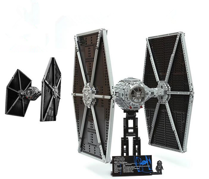 1685pcs Star Series Wars Tie Fighter large-scale Model Building Blocks Toys Dream For Children Compatible 75095 Lepin Bricks