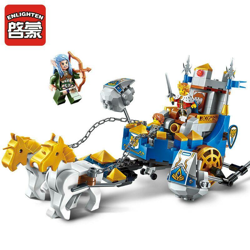 Enlighten NEW 2310 Building Block War of Glory Castle Knights Two horse Chariot 3 Figures 246pcs Educational Bricks Toy Boy Gift art of war