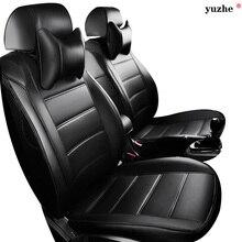 Cubierta de asiento de coche de cuero Para Toyota Suzuki Volkswagen accesorios Hyundai Kia Mazda Mitsubishi Nissan Subaru Honda Audi estilo