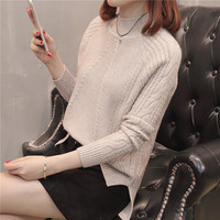 Qiu dong Diamond twist sweater half a turtleneck spread out under a fork shoulder sleeve 30 (image security)