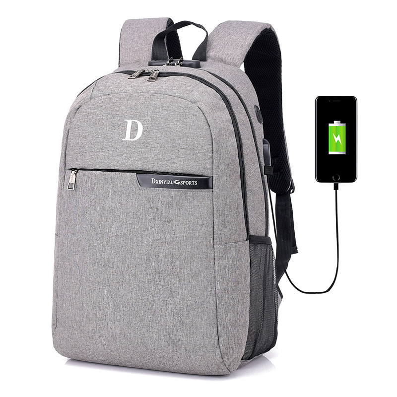 2018 new multifunction USB charge double shoulder bags Anti Theft Backpack preppy college style business laptop backpack