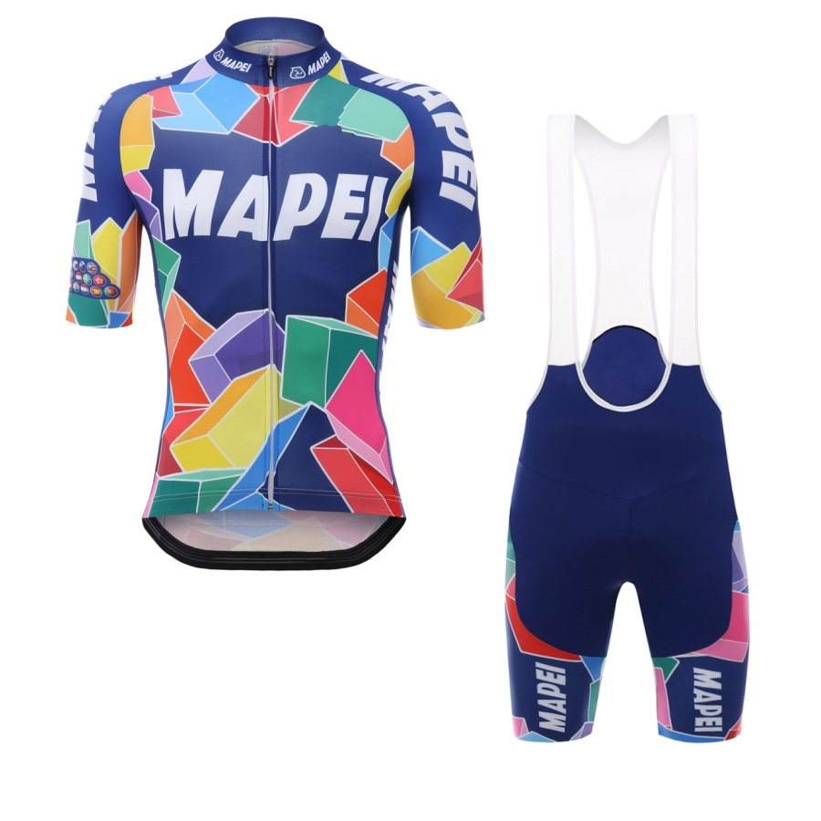 2017 pro team mapei cycling jersey kits mens summer short sleeve bike cloth MTB Ropa Ciclismo Bicycle maillot gel pad