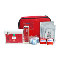 1set AED Trainer Automatic External Defibrillator Simulator Patient First Aid Machine CPR School Skill Traning English & Spanish