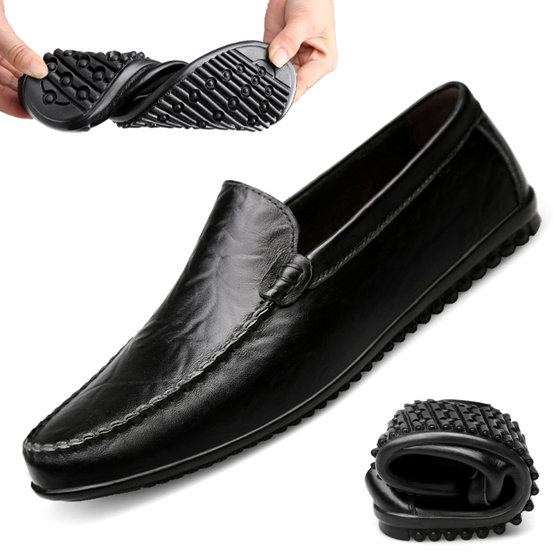 5ccaec5ebb Black Paresseux Red red Dark En Brown Fond À Souple Yellow 1818 Cuir Hommes  Pois Chaussures ...