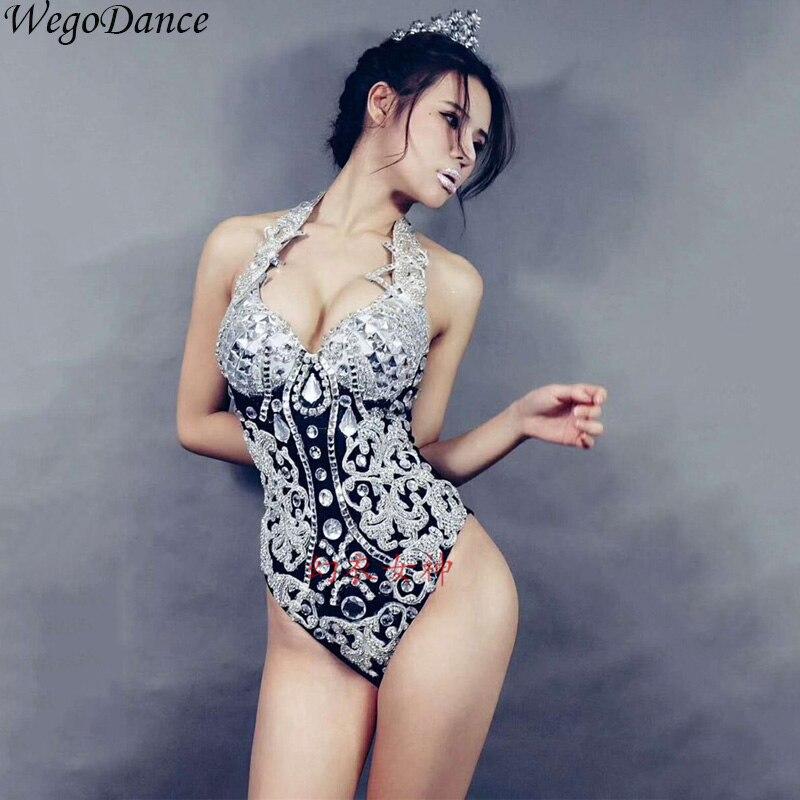 new women big stones tassel bodysuit outfit bra female singer nightclub DS DJ dance wear stage costume performance Clothes