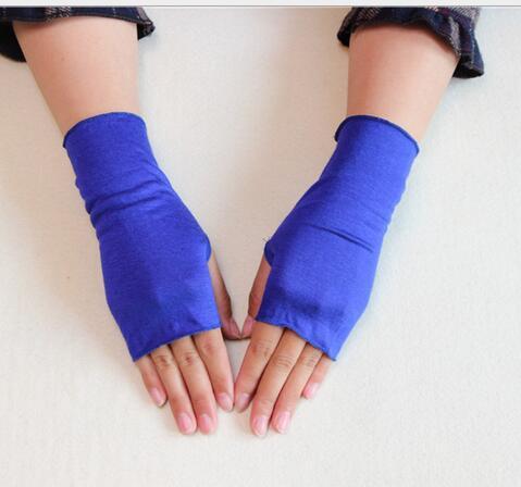 Women's Summer Sunscreen Cotton Glove Lady's Fingerless Summer Driving Glove R074