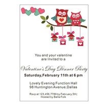 Customized clear acrylic valentine's day party invitation card