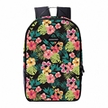 2016 new fashion Women Floral Backpack 3D printing travel softback women mochila casual school backpack mens backpacks LI-1487