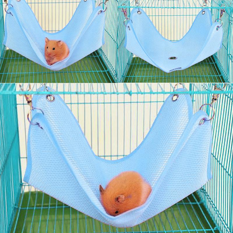 Breathable Pet Hammock Hamster Mice Rat Rodents Hanging Bed Small Animals Cage Swing Nest Clients First Cages