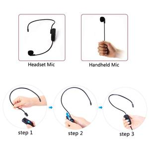 Image 4 - XIAOKOA Dual UHF Headset Wireless Microphone 1 Receiver 2 Headset and Handheld 2 In 1 Rechargeable for Teaching Voice Amplifier