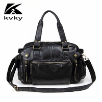 Classic Vintage Men Messenger Bags Pu Leather Designer Handbags High Quality Large Capacity Travel Men Bags