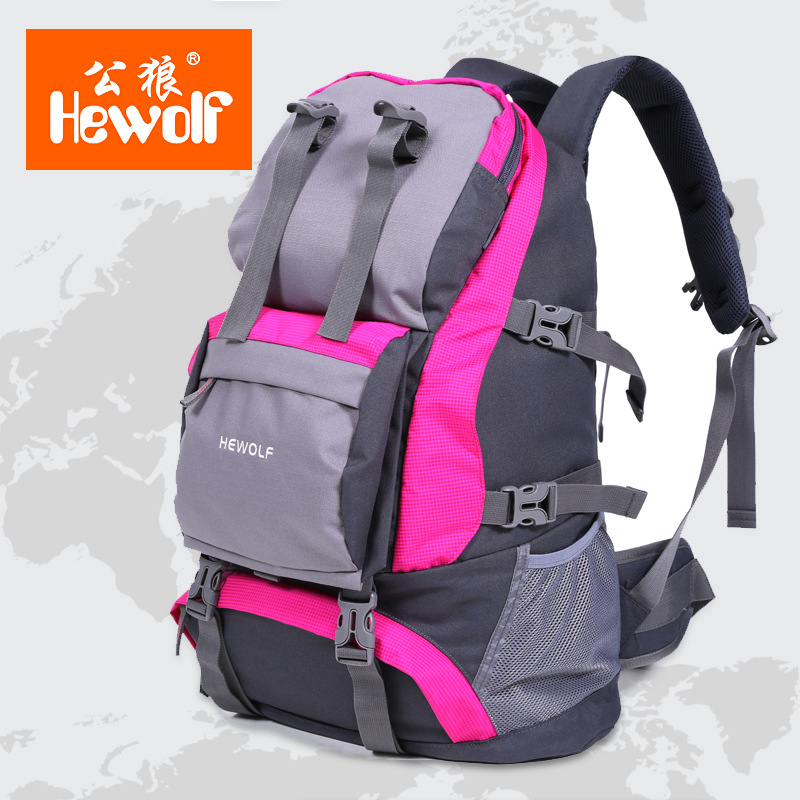 Hewolf  New outdoor high quality professional mountaineering bag sports backpacks large travel waterproof Hiking Backpack32L