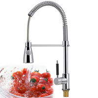 Best Sale!!! Single Spout Kitchen Sink Pull Out Spray Brass Chrome Faucet Basin Mixer Tap