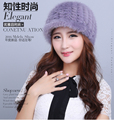 Newest Hot Sale Elegant Women Knitted Hats mink Fur Cap Autumn Winter Ladies Female Fashion Warm Hat Wholesale