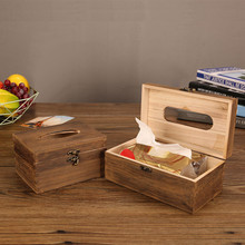 Многофункциональный бытовой коричневый выгоревший Деревянный Держатель салфеток для ванной комнаты коробка для салфеток домашний держатель для бумаги коробка для хранения аксессуаров