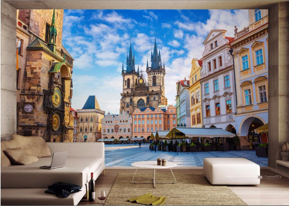 3d room wallpaper custom photo Prague city architecture landscape decoration painting 3d wall mural wallpaper for walls 3d custom 3d photo wallpaper waterfall landscape mural wall painting papel de parede living room desktop wallpaper walls 3d modern