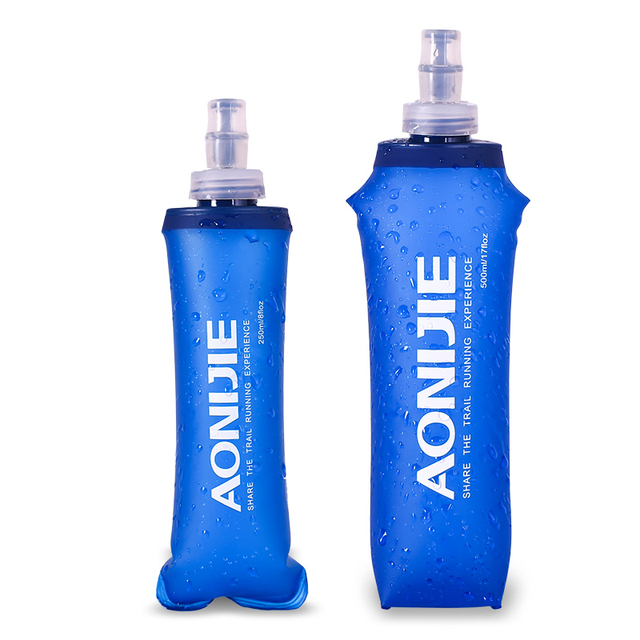 AONIJIE 500/250/170ml TPU Outdoor Sport Bottle Soft Flask Running Hiking Fitness Bicycle Tactical Canteen Water Kettle Jug