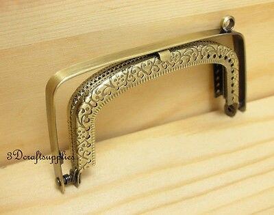 purse frame sewing bag metal frame brushed 3 1/2 inch anti bronze A61