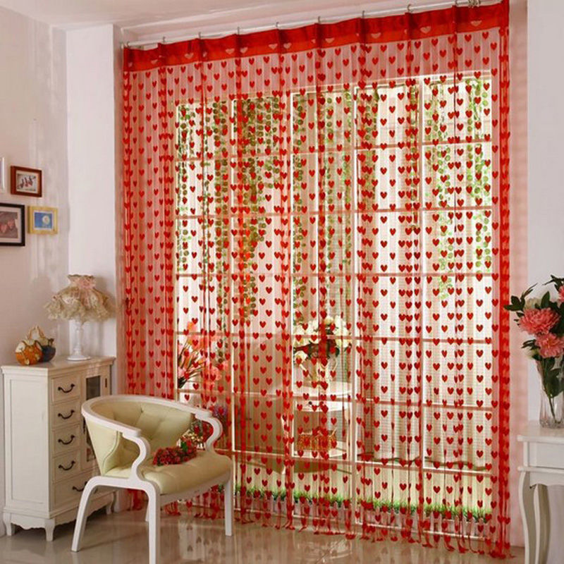 Cute Heart Line Tassel String Door Curtain Window Room Divider Curtain  Valance In Curtains From Home U0026 Garden On Aliexpress.com | Alibaba Group