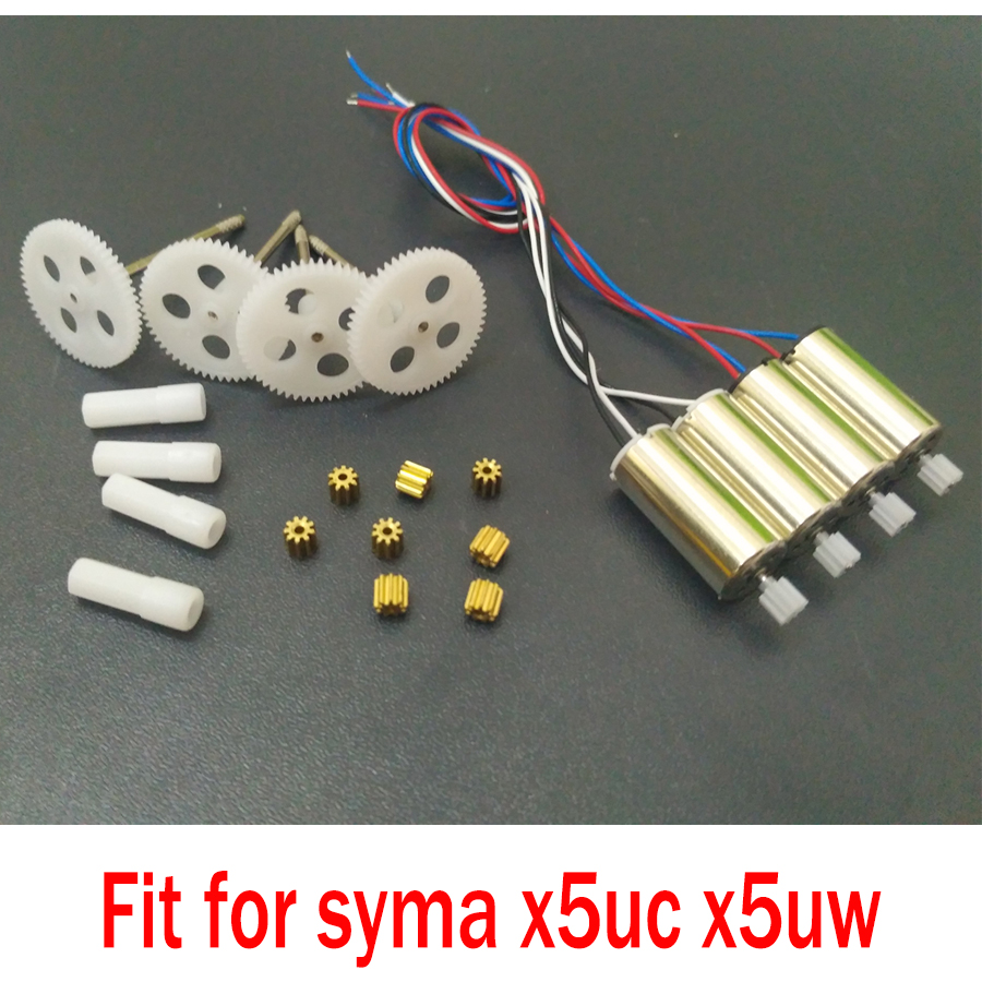 Syma X5UC X5UW Orginal Motor And Gear Metal OR Plastic Gear Replacement Spare Parts Kit Accessories For Helicopter Drone цена 2017