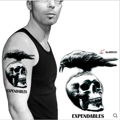 Expendables Tattoo Wallpaper Expendable Tattoo Drawing By: Waterproof Large Tattoo Sticker The Expendables One Time