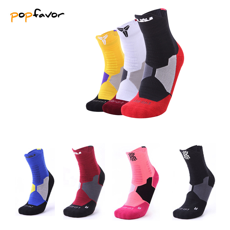 Popfaver Men Sports Socks Riding Cycling Basketball Running Sport Sock Summer Hiking Tennis Ski Man Women Bike Bicycle Slip