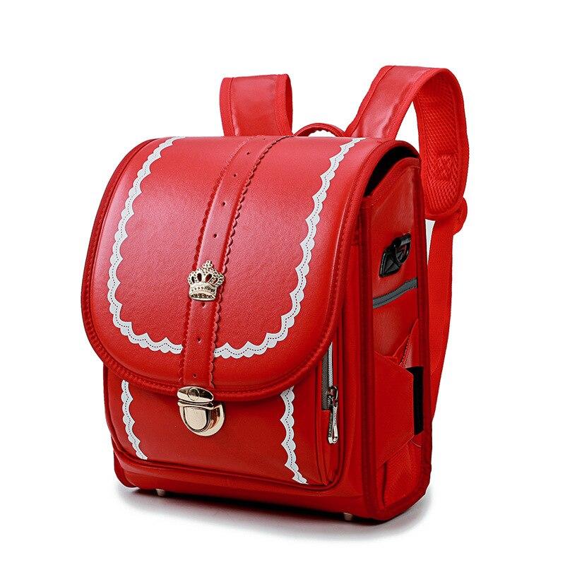 6415de75a616 2019 детский ортопедический школьный портфель детский рюкзак Человека-паука  для девочек PU Hasp Randoseru японский