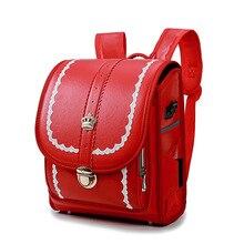Geniune Japanese New Style Children School Bags For Girls Boys Kids Bookbags Randoseru Backpack Sac A Dos Enfant Mochilas