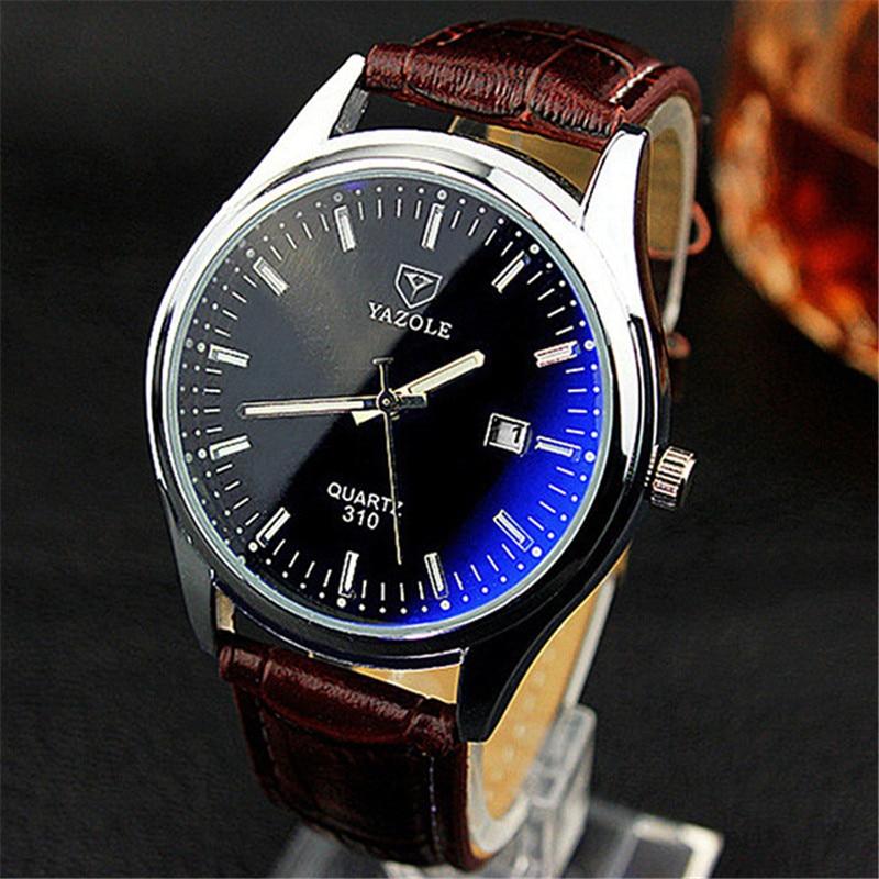 YAZOLE Men Women Quartz Watch Blue-ray Waterproof Couple Watches Luminous Pointer Calendar Boutique Business Wrist Watch YD310