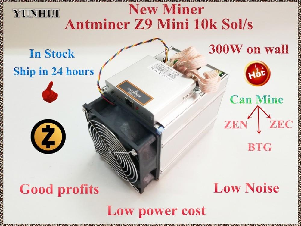 Em estoque YUNHUI ZCASH Mineiro Antminer Z9 Mini 10 k Sol/s 300 W Equihash Asic Mineiro Mina ZEN ZACARIAS BTG Econômico Do Que Innosilicon A9