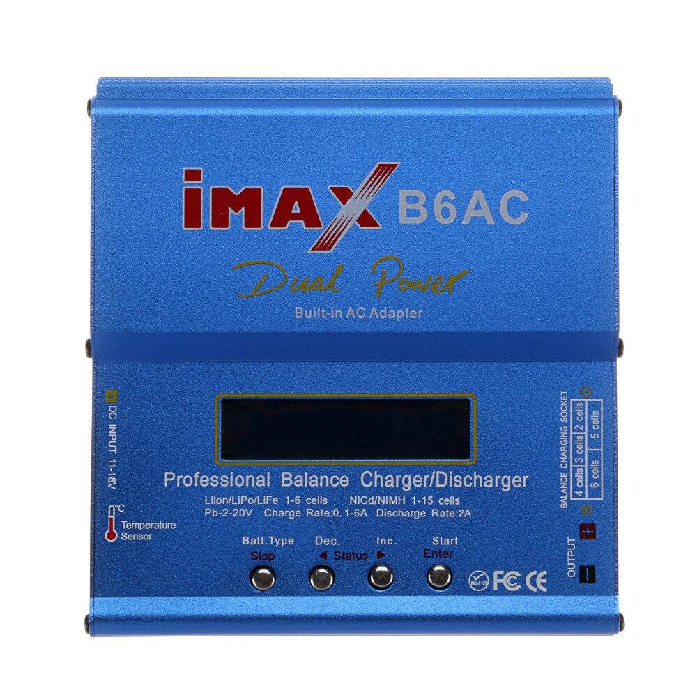 Chargeur de batterie d'équilibre d'imax B6AC RC B6 AC 80 W Nimh Nicd chargeur d'équilibre de batterie au lithium avec écran LCD numérique