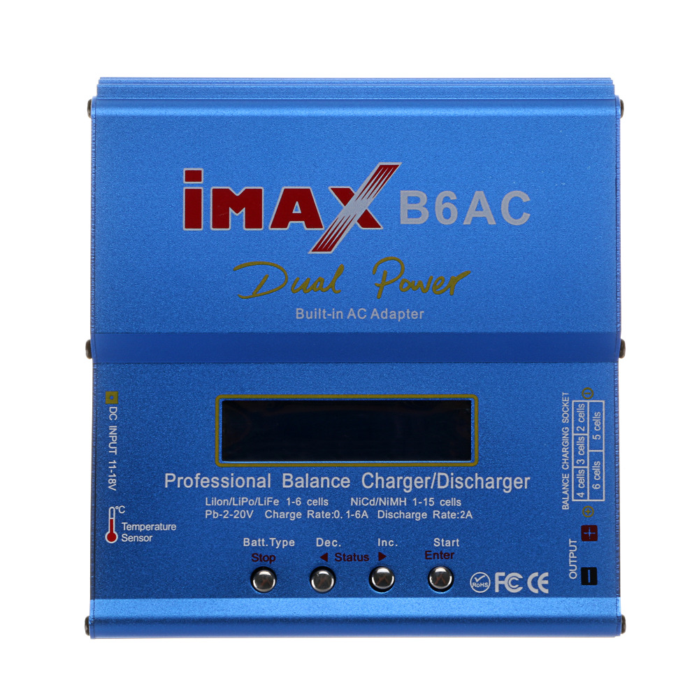 IMAX B6AC RC Balance Battery Charger B6 AC 80W Nimh Nicd lithium Battery Balance Charger Discharger with Digital LCD Screen imax b6 ac b6ac lipo nimh 3s rc battery balance charger