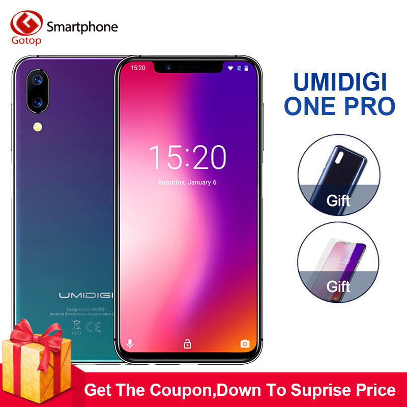 Umidigi One Pro 4G RAM 6 4G B Встроенная память 5,9 мобильный телефон Helio P23 Octa Core Android 8,1 12MP + 5MP двойной Cam беспроводной зарядки мобильный телефон 4G