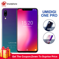 Umidigi One Pro 4G RAM 64GB ROM 5.9Mobile phone Helio P23 Octa Core Android 8.1 12MP+5MP Dual Cam wireless charge 4G Cell phone