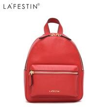 Lafestin кожаный рюкзак мини женщин холст молния Стиль рюкзак девушки школьные сумки натуральная кожа сзади рюкзак Mochilas