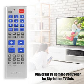Universal de Control remoto de televisión portátil de gran tamaño controlador clave para el gran botón TV sin batería