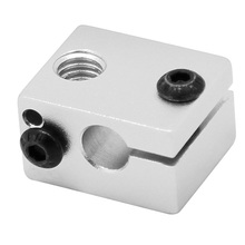 5pcs Aluminium Alloy V6 Heat Block For V5 V6 J-head Extruder HotEnd 3D Printers Parts Heater Hot End Heating Accessories Part