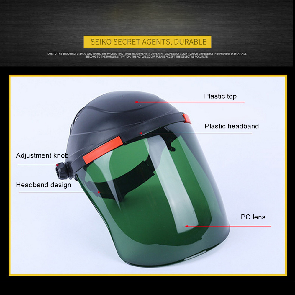 Welding Cap Shield Helmet Protective Mask Electric Dustproof Safety Work Heads Protective Face Impact Anti-splash Glasses Tool